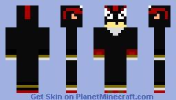 Shadow the Hedgehog (3D) Minecraft Skin