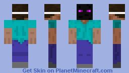 Steve with Enderman mask Minecraft Skin