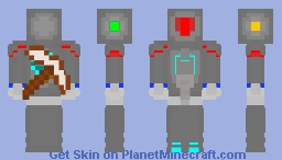 Robominer Exosuit - A Technology For Mining Workers Minecraft Skin