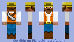 Miner ( with Iron pickaxe ) Minecraft Skin