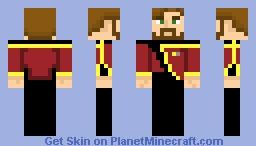 Starfleet Type B Admiral Uniform (2350s-2370s) Minecraft Skin