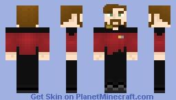 [Practice/Remake] Starfleet Command/Tactical Uniform (2350s to 2370s) Minecraft Skin