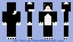 Tuxedo Cat Skin Minecraft Skin