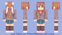DDLC - Just Monika. (And Sayori and Natsuki and Yuri) Minecraft Skin
