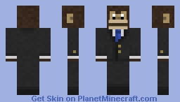 Monkey in a suit Variant 1 Minecraft Skin