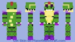 Glamrock MontGomeryn Gator Fnaf Dedicated to my friend Minecraft Skin