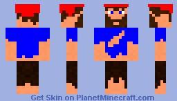 Mr Bum + Christmas Hat!! :D Minecraft Skin