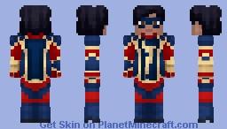 Kamala Khan / Ms. Marvel (Marvel's Avengers Video game 2020) (No Scarf) Minecraft Skin