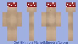 Mushroom Man Minecraft Skin