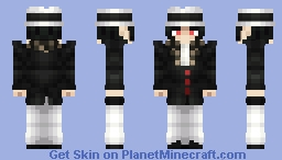 Muzan Kibutsuji | Suit + Fedora | Kimetsu No Yaiba Minecraft Skin