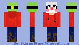 My first skin!! Muddy Clown Boy! Minecraft Skin