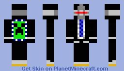 Suited Cyborg Minecraft Skin