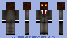 magma cube in a suit Minecraft