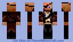 Pirate Blue Eye Minecraft Skin