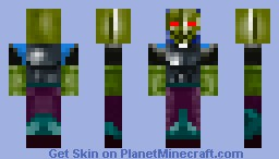 awsome warrior man Minecraft Skin