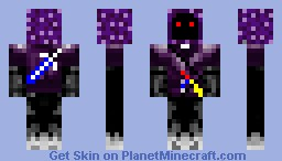 i am raised in the darkness to fight for good Minecraft Skin