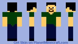 Tweaked Default Minecraft Skin