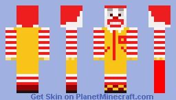 Ronald Macdonald Minecraft Skin