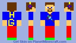 my summer gaming skin Minecraft Skin