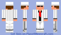 Mobster, Millionaire, bro in white suit, yeah that's better (IT'S ACTUALLY THE SAME IN 3D) duh -_- Minecraft Skin