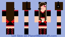 mic girl with red and black boots Minecraft Skin