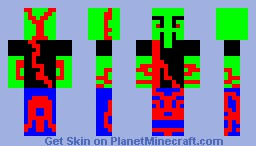 Wounded Alien Minecraft Skin