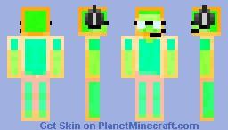 Neon Steve Minecraft Skin