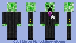 Mobster creeper Minecraft Skin