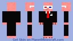 Pig watching a 3d movie Minecraft Skin