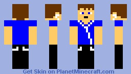 A Human With earbuds Minecraft Skin