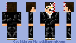 321comics with soul reaper and hollow mask Minecraft Skin