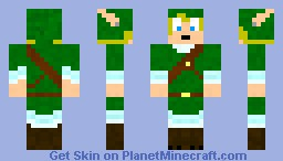 Link, Legend of Zelda Minecraft Skin