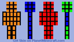 Simple Rubik's Cube Minecraft Skin