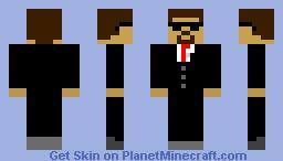 Suit & Sunglasses-Plz Diamond And Subscribe! Minecraft Skin