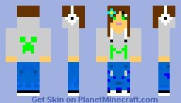 Hoodied Girl Minecraft Skin