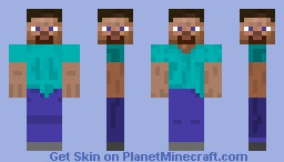 Steve with 4 faces Minecraft Skin
