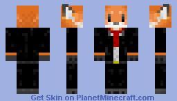 Foxes 3 suit. Minecraft Skin