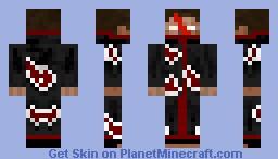 herobrine joins the akatsuki Minecraft Skin