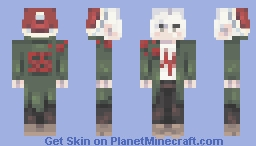 。╭⋟ nagito komaeda says merry christmas!🎄৲、 Minecraft Skin