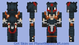 Monster Hunter Freedom Unite - Nargacuga S Armor Blademaster Minecraft Skin