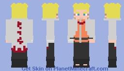 Naruto Uzumaki [Become 7th Hokage] [Boruto] Minecraft Skin