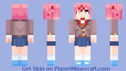 [DDLC Plus] Natsuki Minecraft Skin