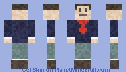 Navy Blue Minecraft Skin