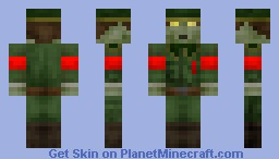 Nazi Zombie (Contest) (Better in 3D) Minecraft Skin