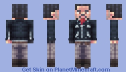 Negan | The Walking Dead | The Day Will Come When You Won't Be Minecraft Skin