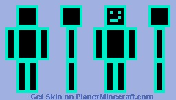 Bright Blue Neon Person Minecraft Skin