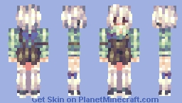 「Lullaby, I can't go home. The rain has stopped, but I can't go home.」 Minecraft Skin