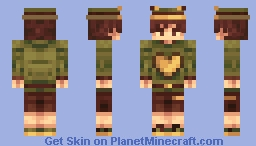 Frog boy with yellow heart Minecraft Skin