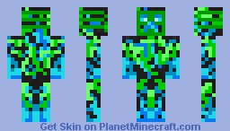 Tron Creeper Minecraft Skin
