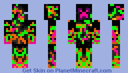 Paintball Creeper Minecraft Skin